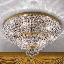 Plafonnier cristal Sheraton, doré