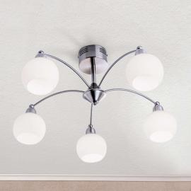 Plafonnier LED Ledion à cinq lampes