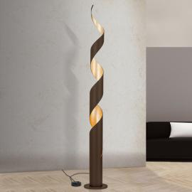Lampadaire exclusif Nerry, feuille d'or