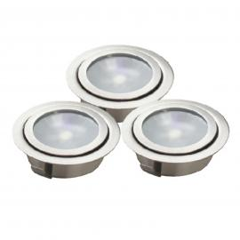 Set de 3 spots encastrables au sol LED LUXA
