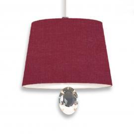 Suspension Gilda cristal de plomb 20cm rouge foncé