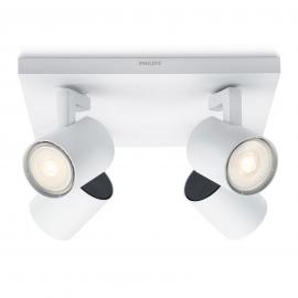 Philips Runner plafonnier LED blanc à 4 lampes