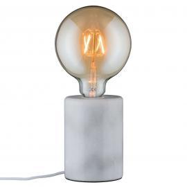 Lampe à poser épurée en marbre blanc Nordin