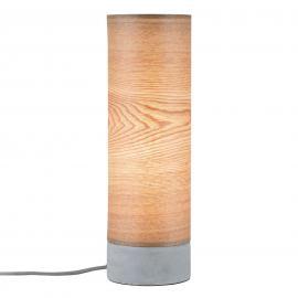 Lampe à poser en bois Skadi avec pied en béton