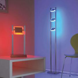 Lampe à poser LED RVB télécommandable Vidal