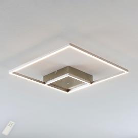 Plafonnier LED Bobi carré en inox
