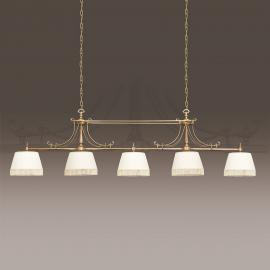 Suspension textile Sopia à 5 lampes
