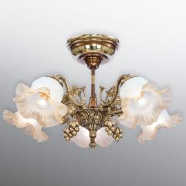 Plafonnier généreusement décoré Albero à 5 lampes