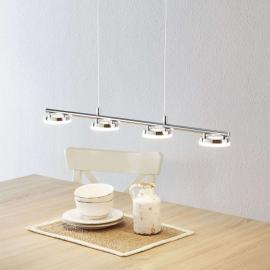 Suspension LED Rennes brillante à quatre lampes