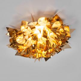 Plafonnier Veli doré, 53 cm