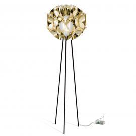 Ravissant lampadaire Flora en doré