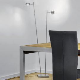Lampadaire LED à 2 lampes Bling en chromé mat