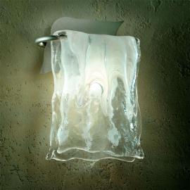 Applique MURANO verre aluminium