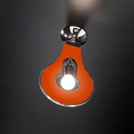 Plafonnier moderne Flat orange