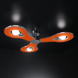 Plafonnier innovant à 3 lampes Flat orange
