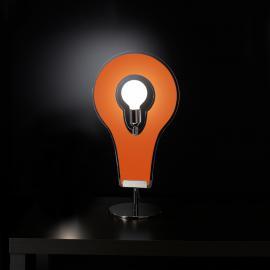 Remarquable lampe à poser Flat 32 orange