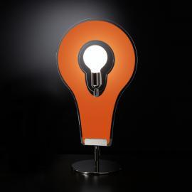 Fascinante lampe à poser Flat 60 orange