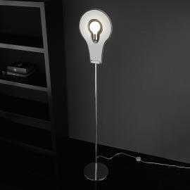 Extraordinaire lampadaire Flat blanc