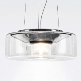 Élégante suspension LED en verre Curling M