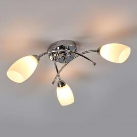Beau plafonnier OPERA 3 lampes chromé