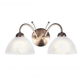 Applique laiton vieilli MILANESE à 2 lampes