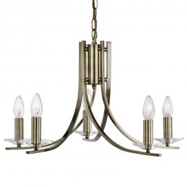 5 lampes Suspension Ascona dans un style antique