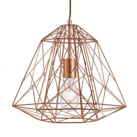 Suspension Geometric Cage futuriste cuivre
