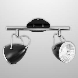Plafonnier/spot LED 2 lampes Oliver, noir