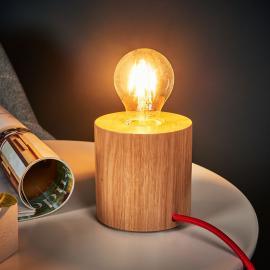 Lampe à poser bois Trongo, au design épuré