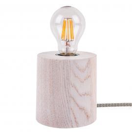 Lampe à poser Trongo en bois chêne blanc