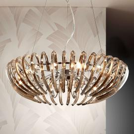 Suspension cristal Ariadna champagne