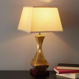 Lampe à poser originale Deco avec pied doré