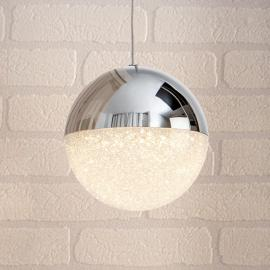 Suspension LED Sphere, chromé, à 1 lampe, Ø 12 cm