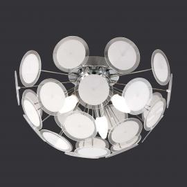 Plafonnier individuel Circle blanc chrome