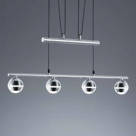 Suspension LED Ada à 4 lampes, hauteur réglable
