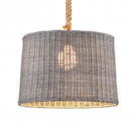 Suspension Rotin à 1 lampes, abat-jour de rotin