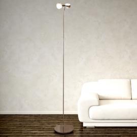 Lampadaire PUK FLOOR chromé mat à 2 lampes