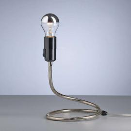 Lampe à poser LIGHTWORM Walter Schnepel nickel