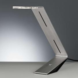 Lampe à poser LED Flad gris argenté