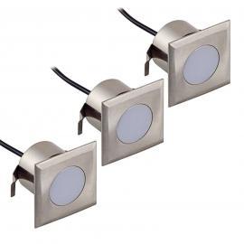 Kit 3 spots encastrés LED Nürnberg III carré