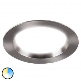 Spot encastrable LED rond en nickel mat Tyrien