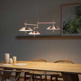 Suspension LED Mayfair 3 lampes, couleur cuivre