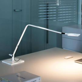 Lampe à poser LED Flex, blanc brillant