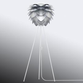 Lampadaire Silvia avec abat-jour couleur acier
