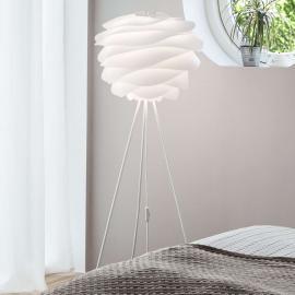 Lampadaire à trépied Carmina en blanc