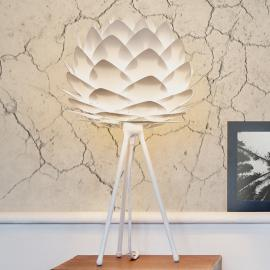 Lampe à poser blanche Silvia mini avec trépied