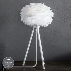 Lampe à poser Eos micro avec abat-jour en plumes