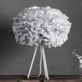 Lampe à poser Eos medium avec abat-jour gris clair