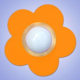 Plafonnier décoratif  FLEUR orange