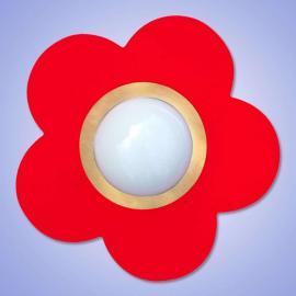 Plafonnier décoratif PETIT FLEUR, rouge